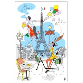 Kökshandduk Paris je t'aime!