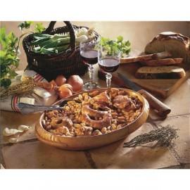 Cassoulet gastronomique au confit de canard 980g.