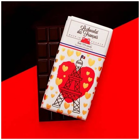 Chocolat 72% cacao - Chocolat des Francais 90gr