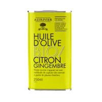 Huile d'olive BIo Citron & Gingembre 250ml.