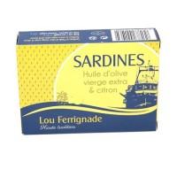 Sardines à l'huile d'olive et citron 120g