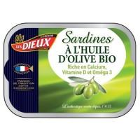 SARDINES HUILE BIO115GR LES DIEUX