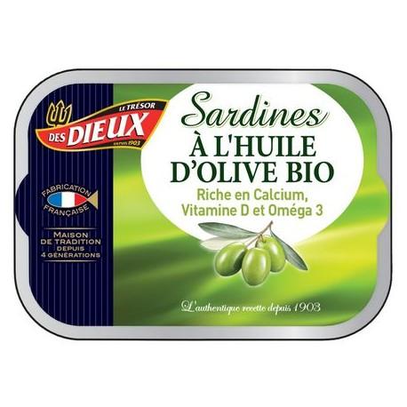 Sardiner i EKO olivolja 115g Les Dieux