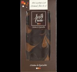 Mörk & mjölkchoklad med smörkola & havssalt